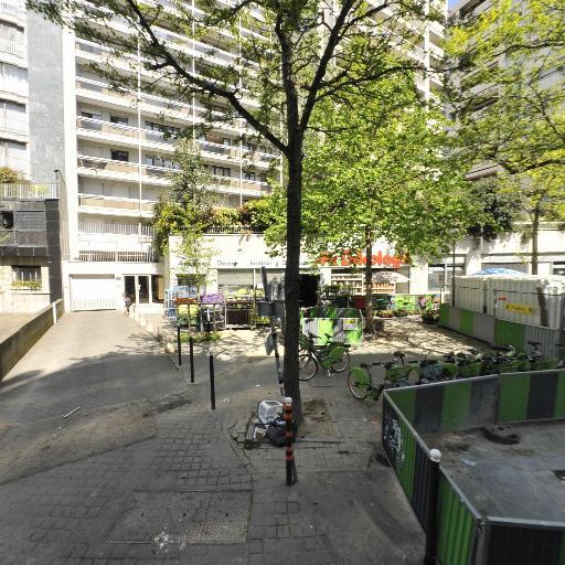 Station Vélib' Abbé Groult - Convention - Vélos en libre-service - Paris